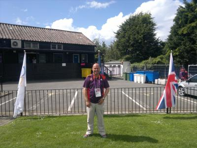 Cleankill's Mike working as a London 2012 Olympics volunteer